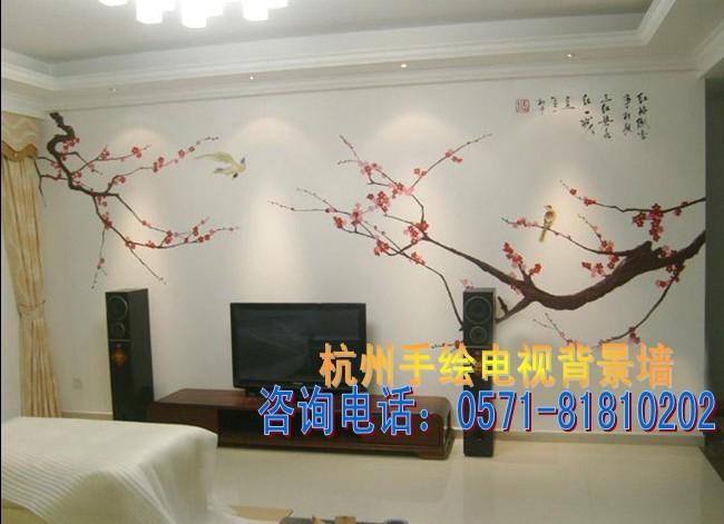 背景墙画手绘彩绘报价