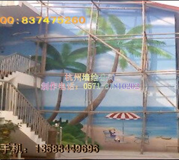 供应建筑外立面彩绘-房屋外墙手绘壁画-房子立面墙绘