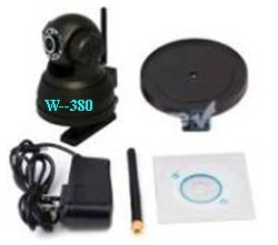 供应W380无线IP智能监控防盗报警、电脑摄像头、无线摄像头 图片 效果图