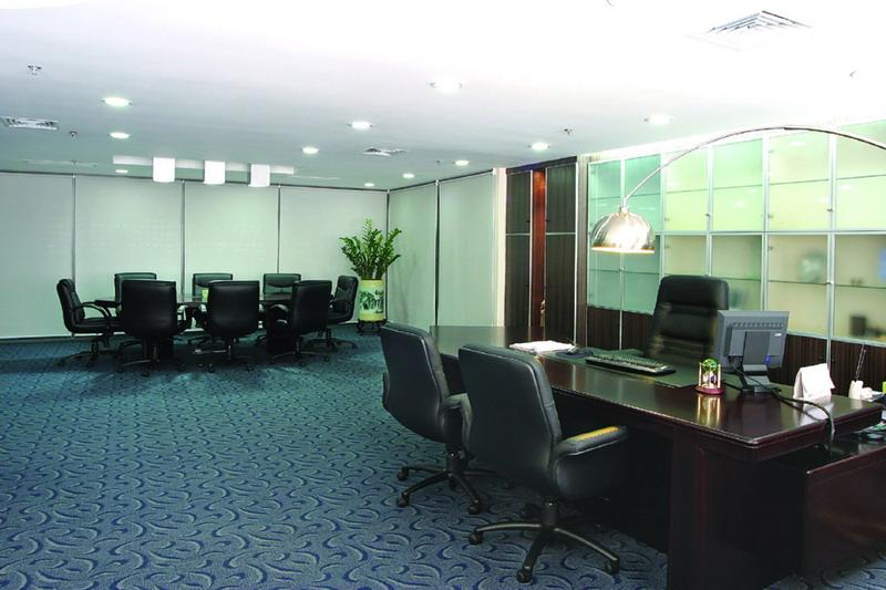 装潢样板图 办公室装潢设计装修设计施工等服务 上海优鸿装饰