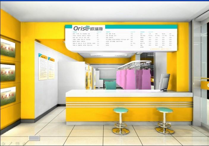 小型洗衣店室内装修效果图