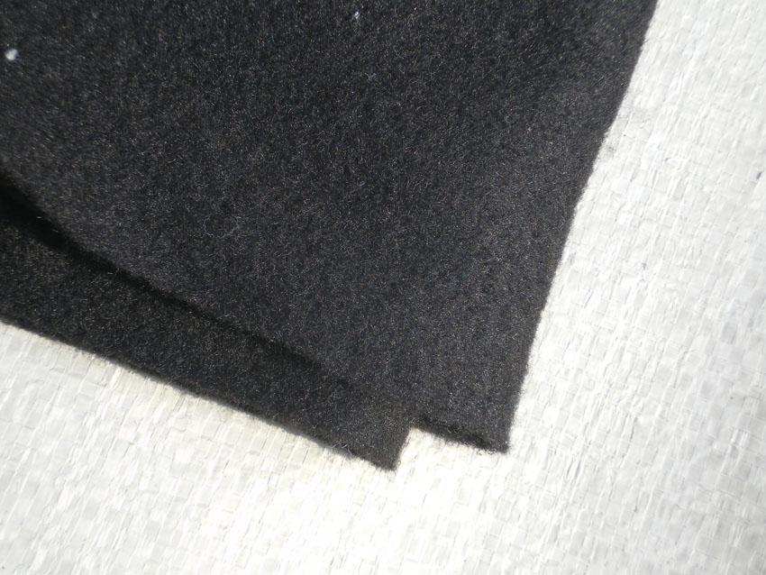 黑色土工布黑色聚酯长丝土工布销售