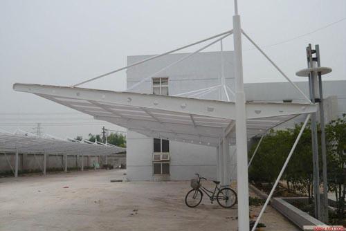 海同向棚业有限公司生产供应膜结构车棚阳光板车棚图片-膜结构车棚图片