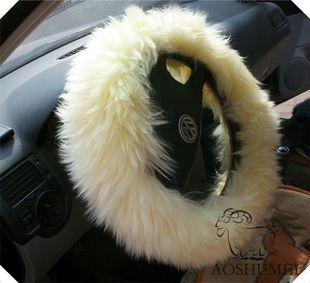 供应纯羊毛汽车方向盘套冬季方向盘套