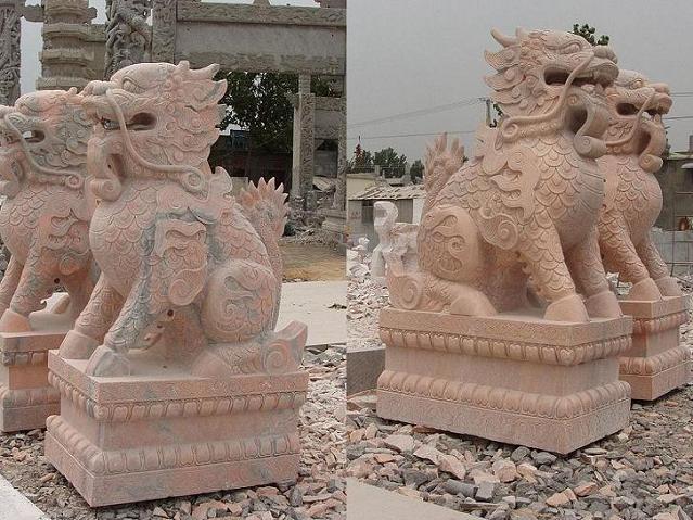供应石雕貔貅独角兽獬豸天禄辟邪批发