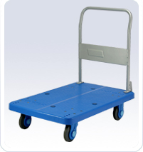 供应静音型塑胶平板手推车-PLA30