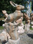 属相石雕石雕12生肖柱图片