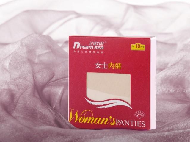 供应客房用品经典女士内裤盒装客房用品