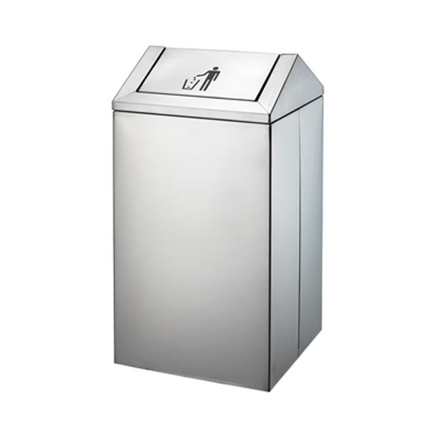 供应p-e135商场翻盖垃圾桶 沈阳不锈钢垃圾箱 加厚型不锈钢果皮箱
