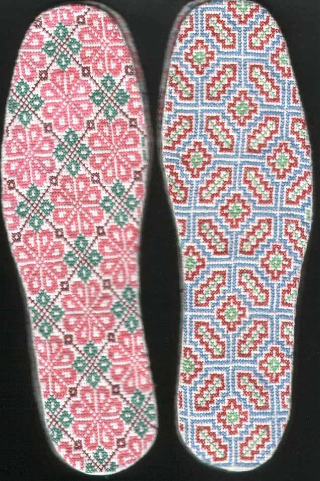 供应纯手工十字绣鞋垫图片