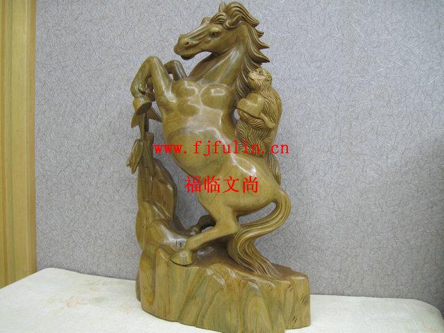 木雕礼品,关公动木雕,木雕
