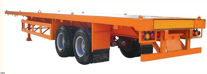供应2轴平板集装箱半挂车