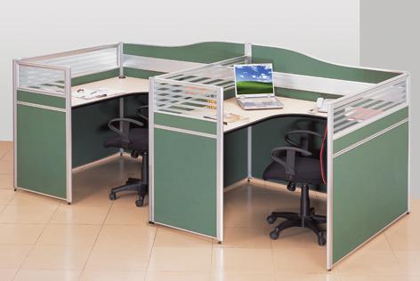 屏风办公桌组合图片