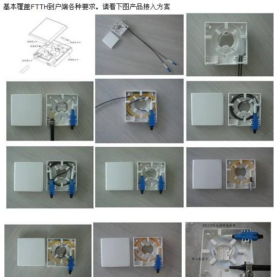 光纤耦合器图片 光纤耦合器样板图 SC APC光纤耦合器生...