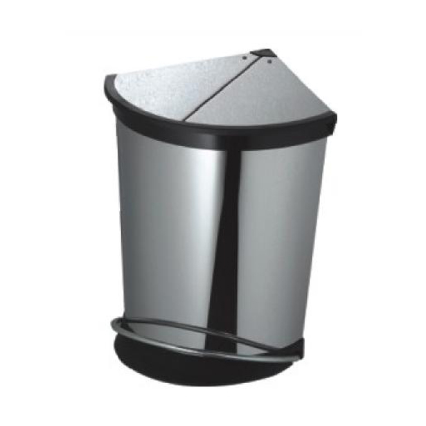 不锈钢脚踏式垃圾桶图片