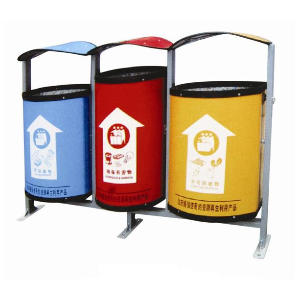 垃圾桶_垃圾桶供货商_供应p-c108环保型三分类垃圾桶
