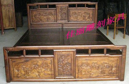 老榆木家具床图片价格 老榆木家具图片价格 民国老家具榆木柜价格