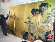 金顺大型手绘金银装饰壁画图片