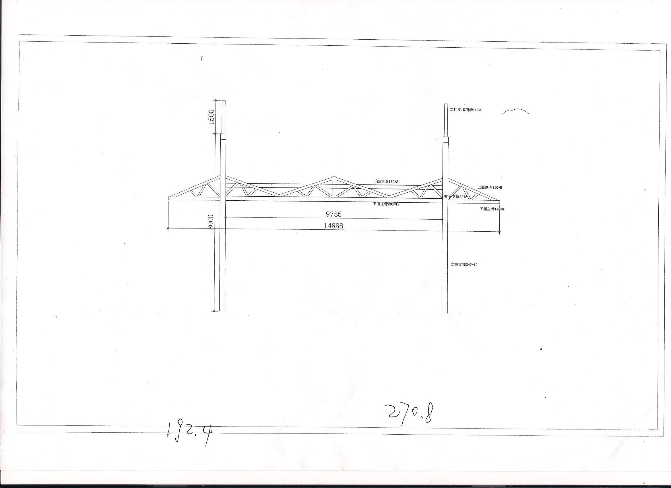 商业街小车入口收费岗亭膜结构图纸报价