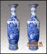 1米8青花山水陶瓷大花瓶图片