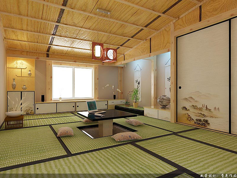 日式和式风格家居装修装饰装潢设计理念:浓郁的日本民族特色,
