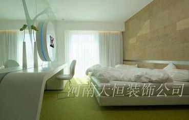 样板图 酒店装修设计客房装修色彩搭配技巧 郑州天恒装饰工程