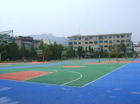 供应 水性硅PU网球场篮球场羽毛球场球场地坪涂料