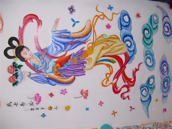 彩绘画绘图手绘彩绘芜湖幼儿园彩绘生产供应商:合肥向日葵墙绘-供应彩