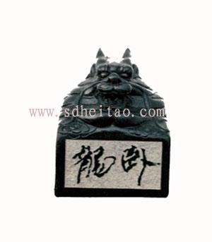 供应龙头印章-黑陶工艺品-中国黑陶图片