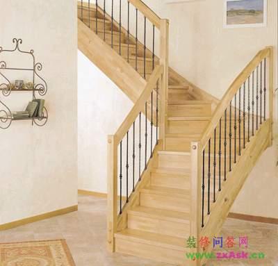 格尔森楼梯生产供应实木整体楼梯
