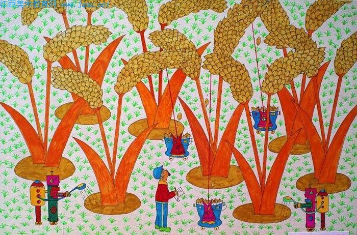 巨大的稻谷简笔画