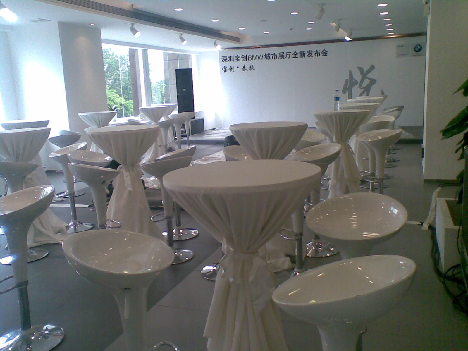 贵宾椅,嘉宾椅,塑胶扶手椅,塑胶方椅,玻璃圆桌,木圆桌,塑胶圆桌,吧台