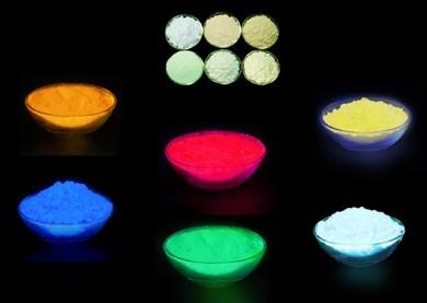 供应红黄蓝绿橙彩色夜光粉光粉可制夜光涂料夜光漆装饰装璜批发