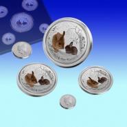 2011年澳洲兔年生肖银币套装图片