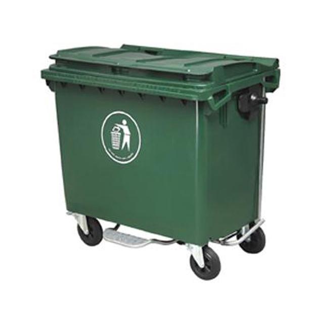 垃圾桶-户外环保垃圾收集桶-加厚型塑料垃圾车图片