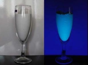 玻璃烛台压制专用夜光粉图片