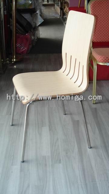 供应贴防火板弯曲木椅,广东防火板弯曲木餐椅工厂批发价格图片