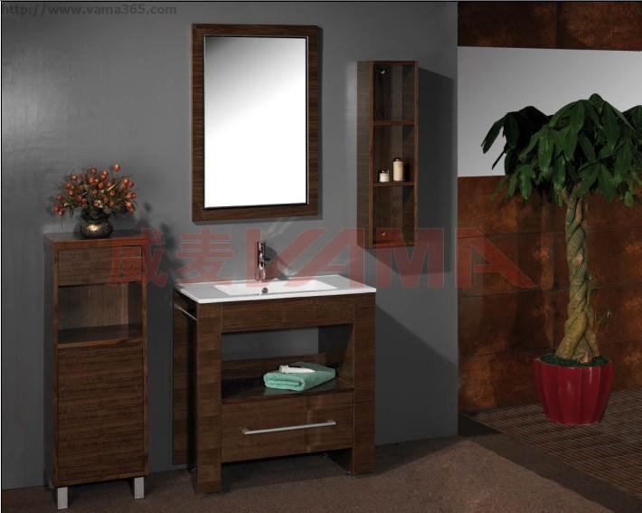 【实木浴室柜-威麦卫浴】
