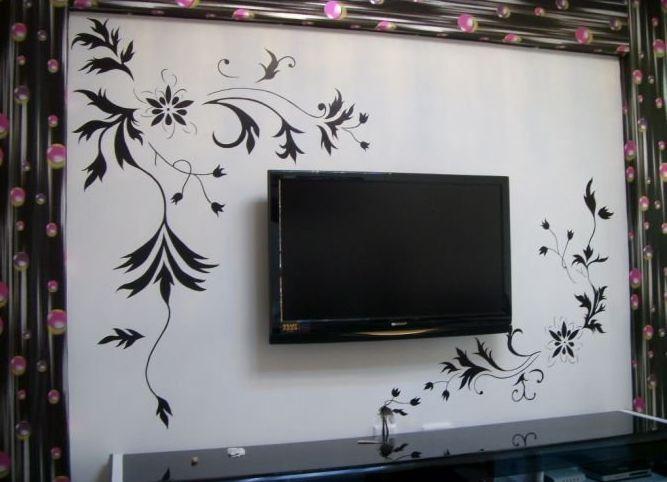 家装手绘墙画/壁画:电视背景墙
