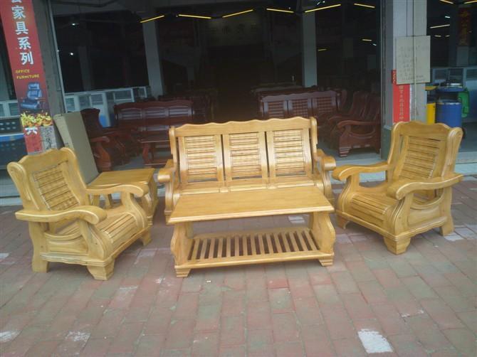 【中式多件套实木沙发|木制实木沙发|木质五件套沙发