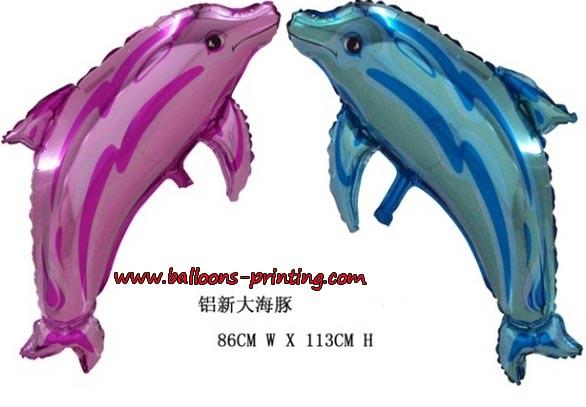 铝膜吉他|蓝色海豚--义乌外贸气球批发供应