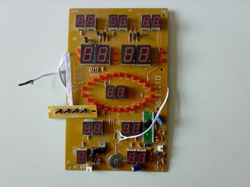 各种动感数码万年历机芯,机壳,灯管,七彩led,镇流器