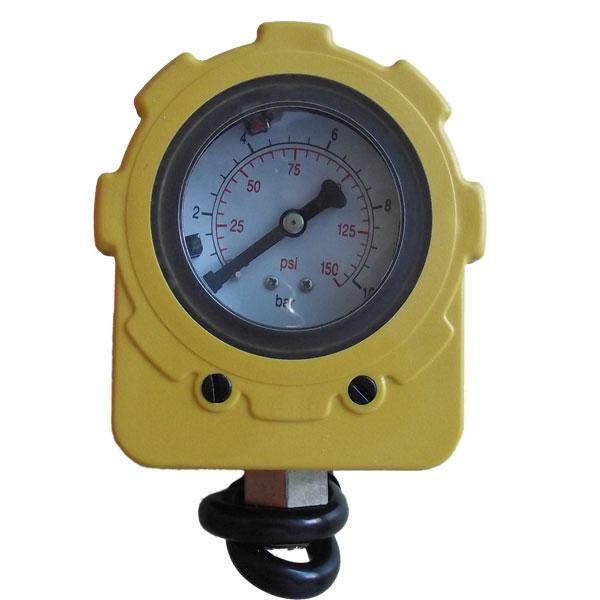 电接点压力表、电机保护器、控制水泵接线图