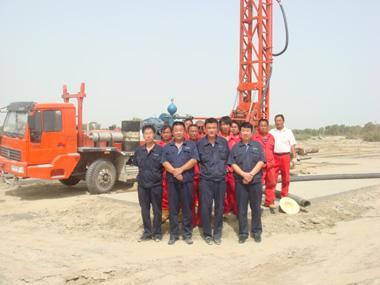 新疆库尔勒市,该公司依托塔里木油田大规模开发项目