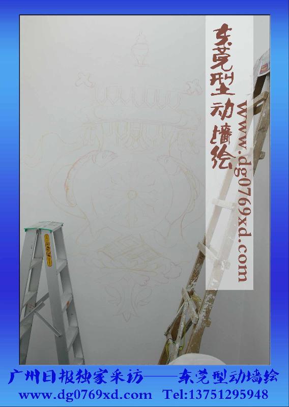 东莞手绘墙--广州时代糖果背景墙