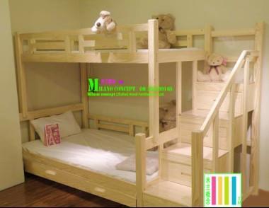 儿童床 子母床 松木床