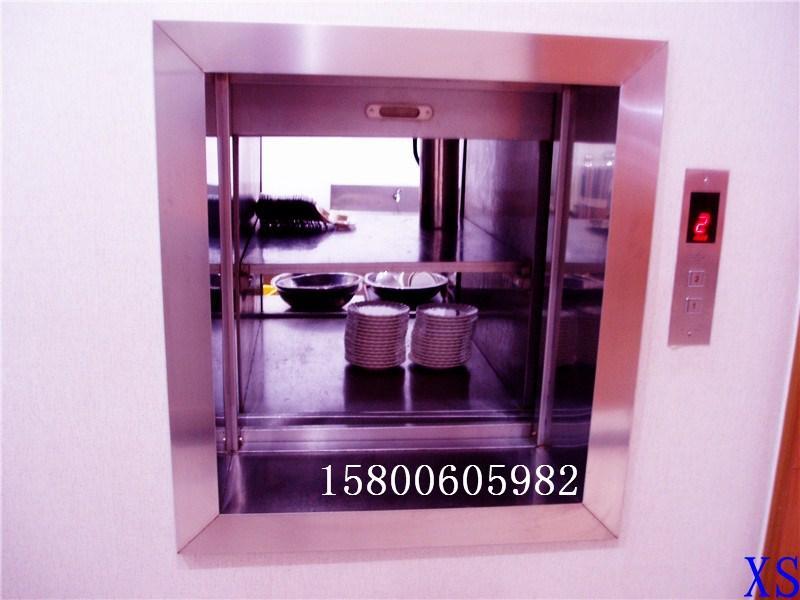 西尚杂物电梯全部采用整体钢结构框架井道,客户不需额外建造电梯井道
