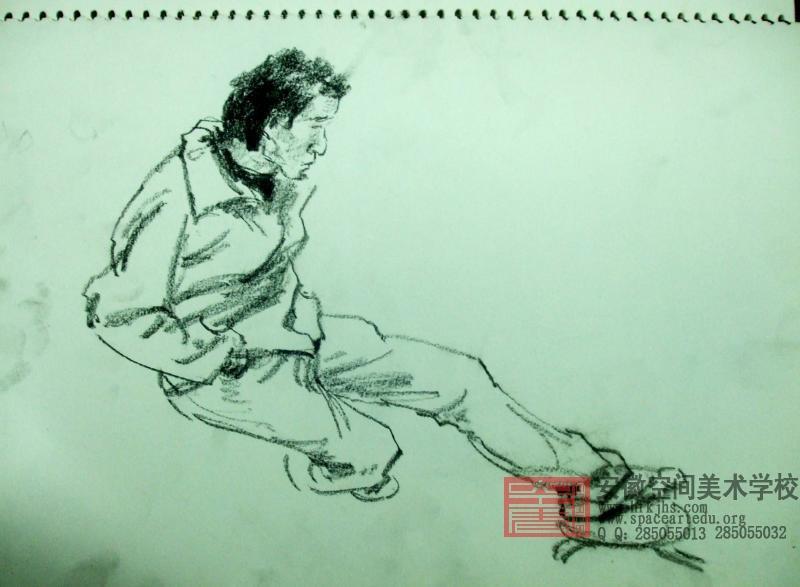 人物速写鞋子的画法; 人物衣褶的画法