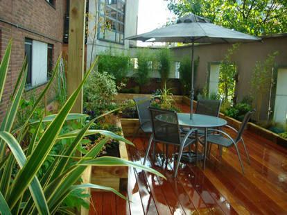 昆山专业庭院景观,别墅绿化,防腐木工程,家庭园艺工程