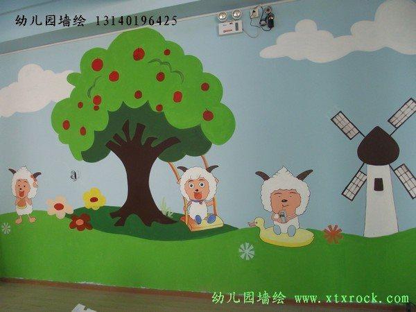 新郑幼儿园墙体彩绘,新郑幼儿园喷画,墙绘,新郑幼儿园喷画